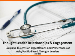 Asia-Pacific Thought Leader Relationships