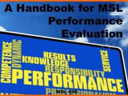 Handbook MSL Performance Reviews
