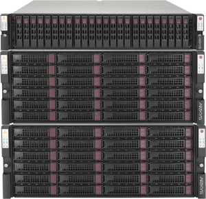 arrays into software orchestrated storage