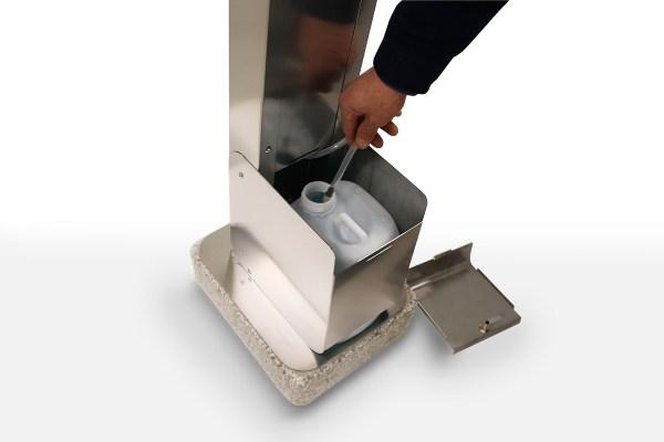 ARYA Dispenser – Outdoor Sanitizing Gel Column