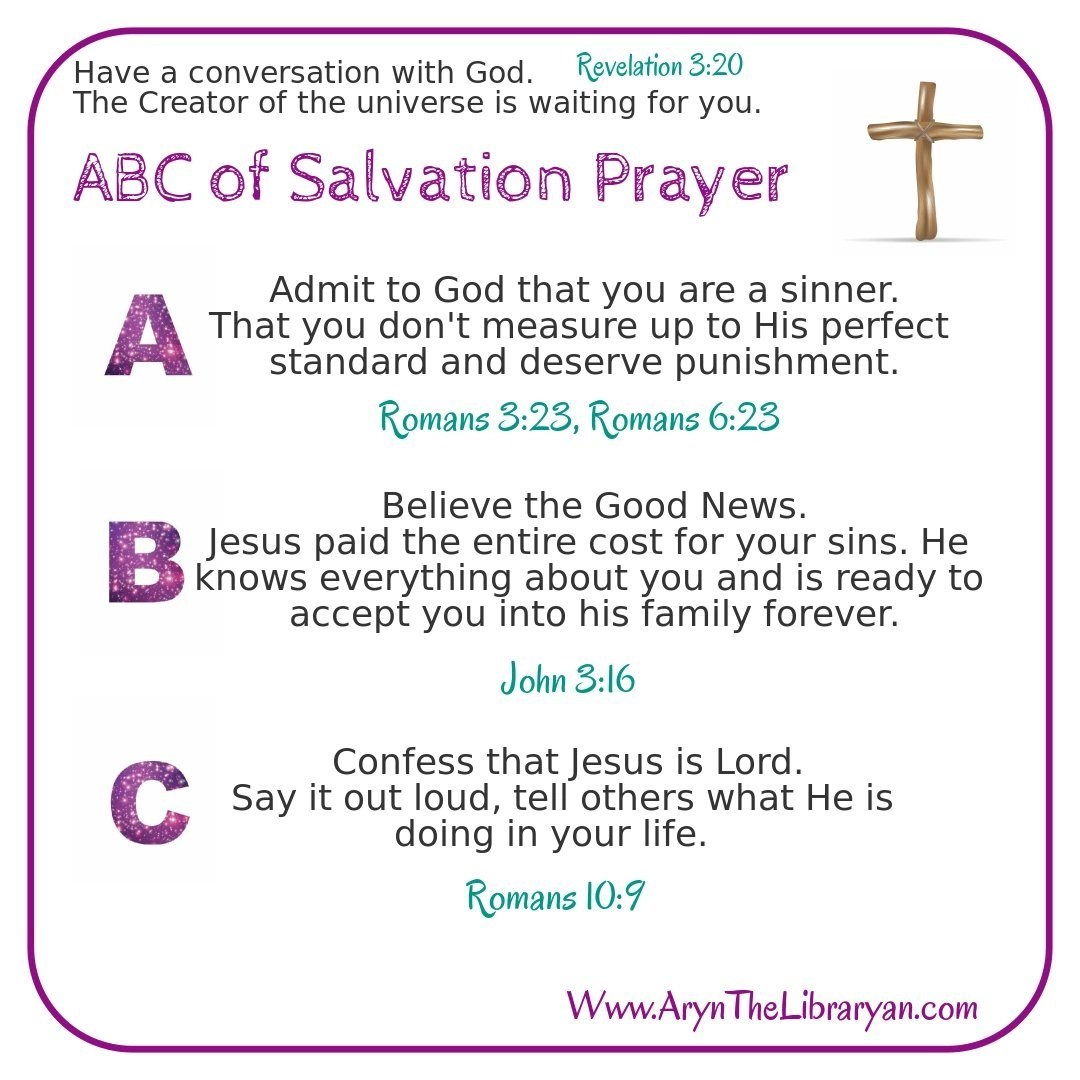 graphic about Abc's of Salvation Printable named Are There Incredibly 3 Methods in direction of Salvation? Religion 101 Aryn the