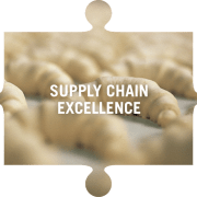 Supply chain excellence jigsaw piece