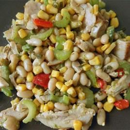 Photo de la salade composée (réalisée par mes soins).
