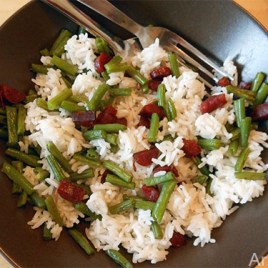 Arzhela riz haricot vert à la chinoise