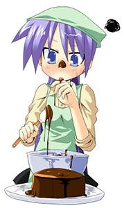 Chocolate Anime Kagami Cake