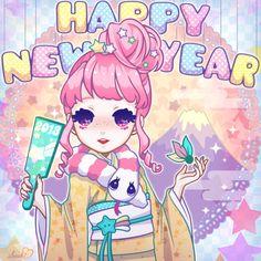 Année 2015 Kawaii Happy new year