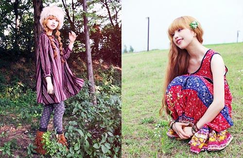 Mori girl boheme style