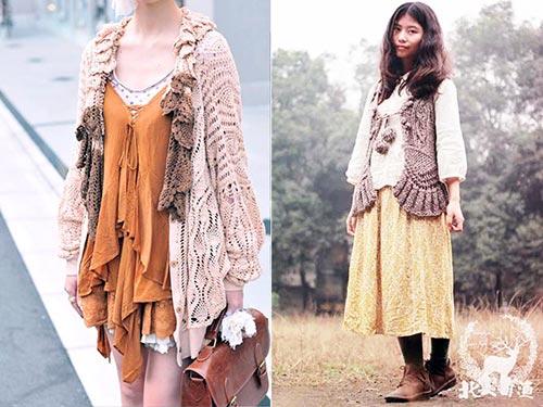 mori girl wool style