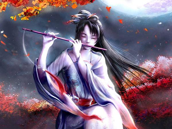 Autumn Asians anime flute