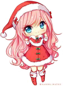 Kawaii christmas girl