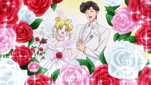 Sailor Moon Crystal Usagi Mamoru wedding