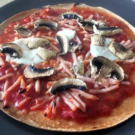 Tortilla-pizza recette healthy recipe
