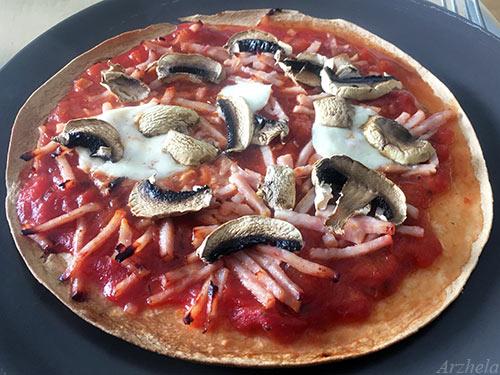 Tortilla-pizza recette healthy recipe