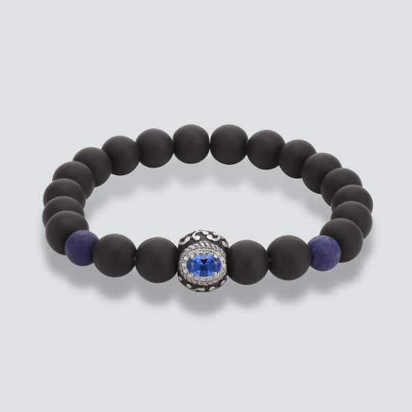 Blue Sapphire Bead Bracelet