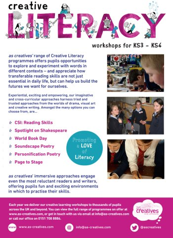 Creative Literacy Workshops for Secondary Schools