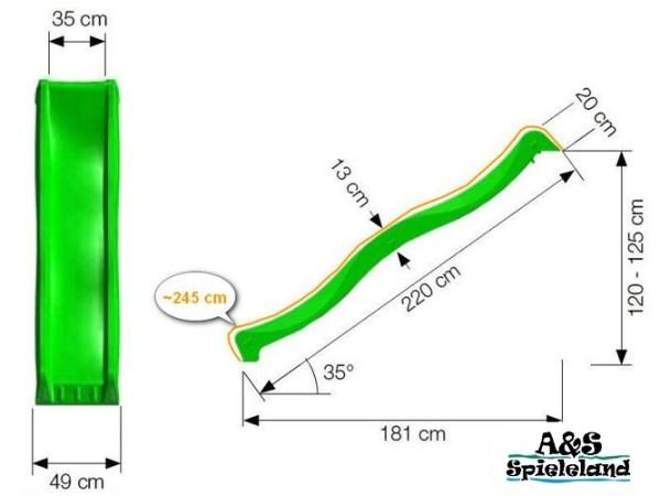 Wellenrutschte WAVE 240 cm