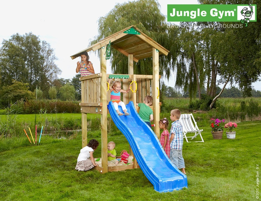 spielturm jungle casa set mit rutsche jungle gym. Black Bedroom Furniture Sets. Home Design Ideas