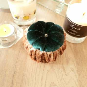 Forest Green & Gold Pin Cushion