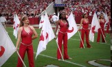 Four members of the 2011 color guard