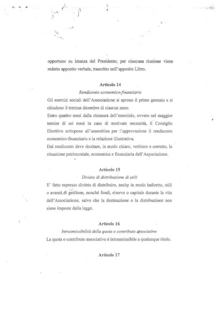 ASD 5 PARI STATUTO 18 - STATUTO