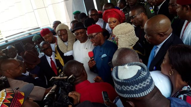Governor Okowa at Delta State House of Assembly