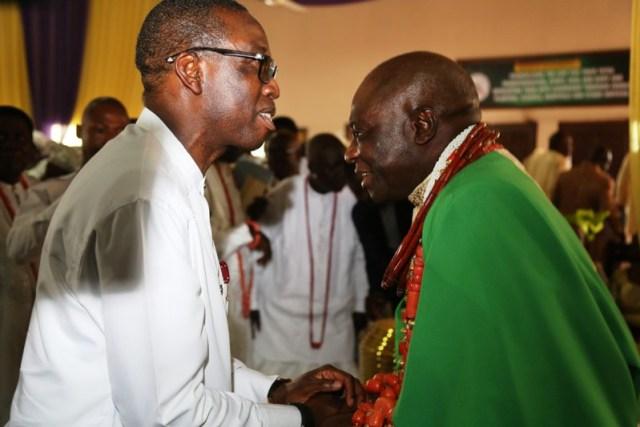 Governor Okowa and Olu of Warri