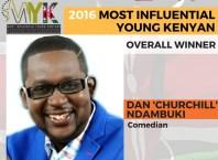 Dan 'Churchill' Ndambuki Voted 2016 Most Influential Young Kenyan