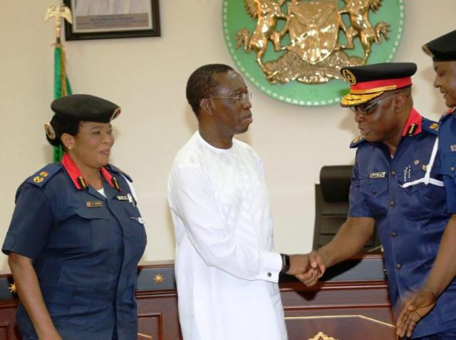 Okowa Receives NSCDC Asst. Commandant