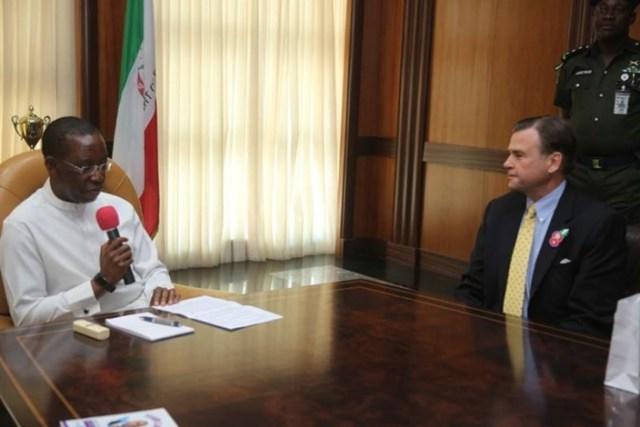 Governor Okowa and US Ambassador to Nigeria, Stuart Syminton
