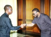 Governr Okowa and David Edevbie