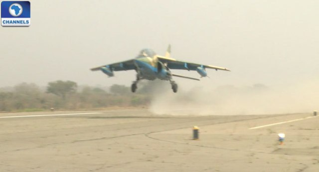 Nigerian Airforce Fighter Jet Departs To Gambia