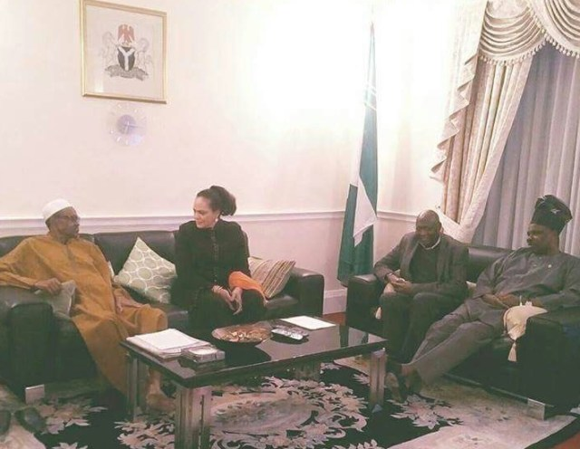 Live Photo of Muhammadu Buhari in London