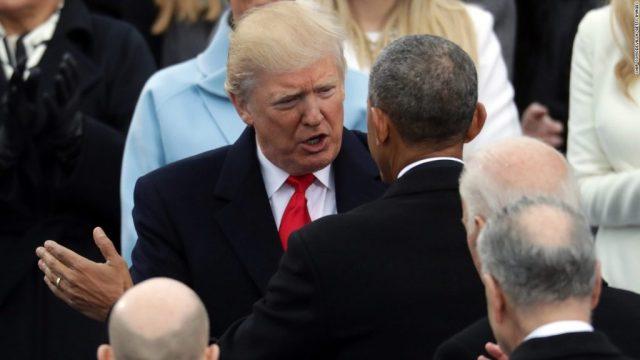 President Donald Trump and Barack Obama