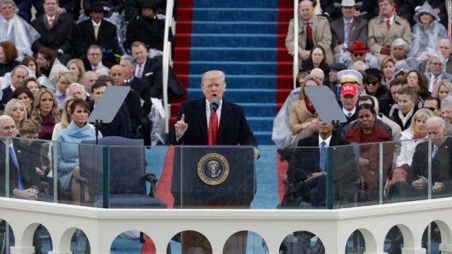 President Trump Makes First Speech