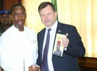 Governor Okowa and British High Commissioner
