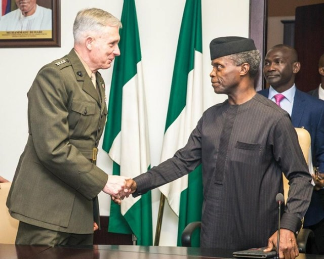 Osinbajo with US-Africa Military Commander