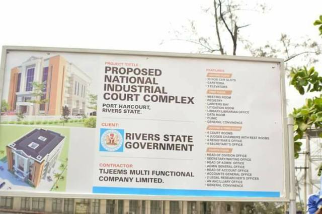 Construction of National Industrial Court in Rivers State