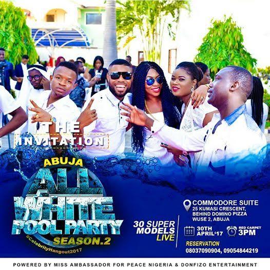 Abuja All White Pool Party 2017