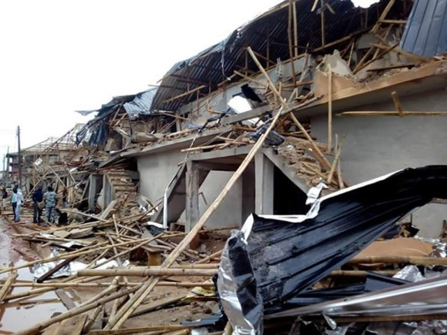 Bob Izua demolished Complex