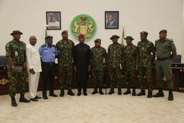 Governor Okowa and Nigerian Army