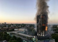 London Towers on Fire