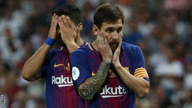 Messi Shocked at the Loss of Super Cup to Real Madrid