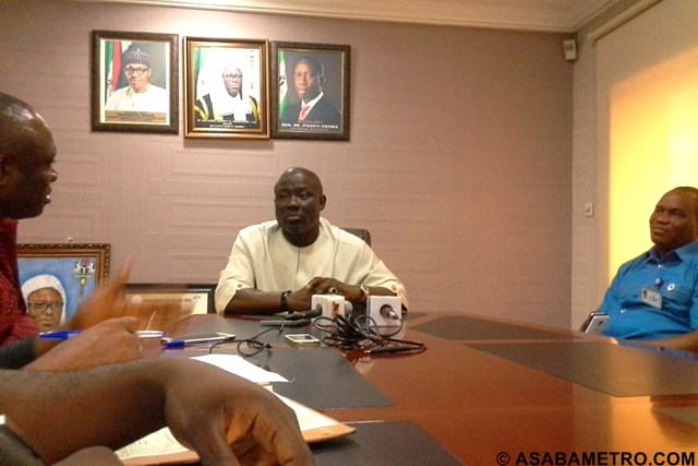 Speaker Oborevwori with Journalists