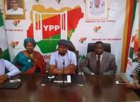 National Executives of YPP at a press Conference