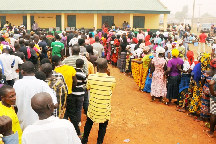 Image result for Voters in Delta state