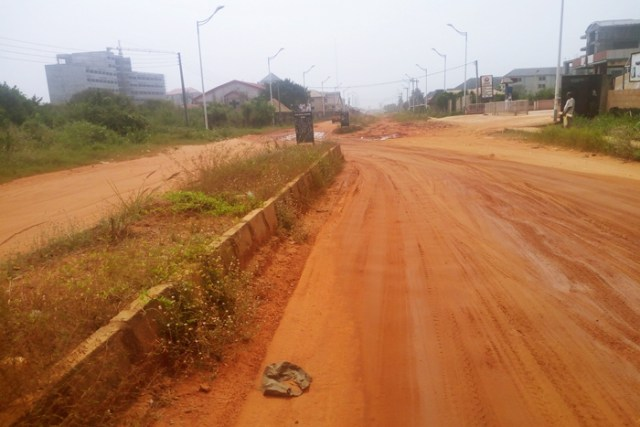 The Dilapidated Maryam Babangida Way Asaba, Constructed by ULO Consultants Limited