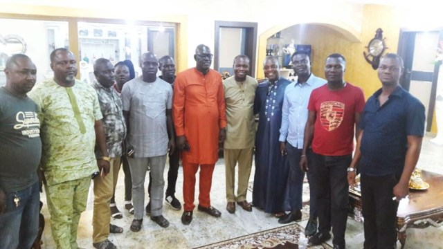 Delta State House of Assembly, Warri South-West Constituency Aspirant, Hon Andrew Omagbemi Igban on a Consultative Visit to PDP Chairman, Chief Kingsley Esiso