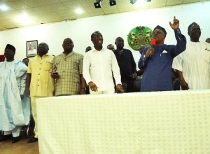 PDP Governors and Uche Secondus in Asaba