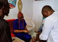 Idumuje-Ugboko Monarch, Justin ChukwunonsoNwoko Receives Senator Peter Nwaoboshi