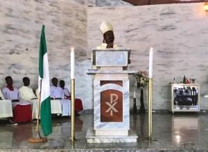 Bishop of the Issele Uku Diocese of the Catholic Communion, Most Rev Michael Odogwu Elue